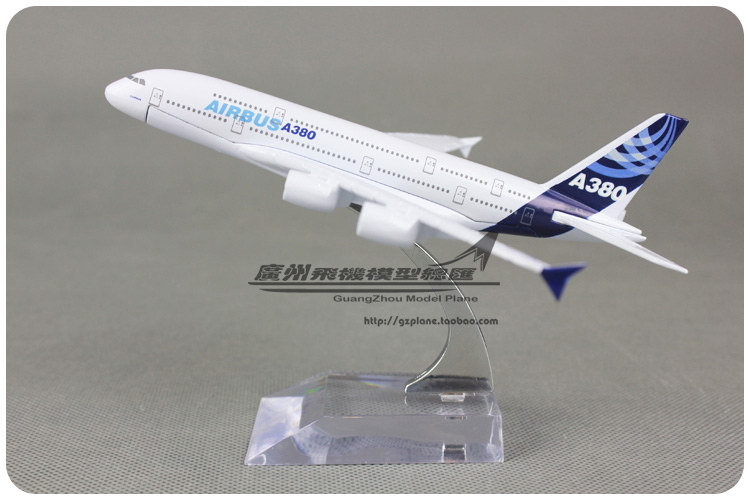 16cm Airbus A380 Airlines Prototype Plane Model Alloy Metal Airplane Model Kids Toy Gift Collections Free Shipping(China (Mainland))
