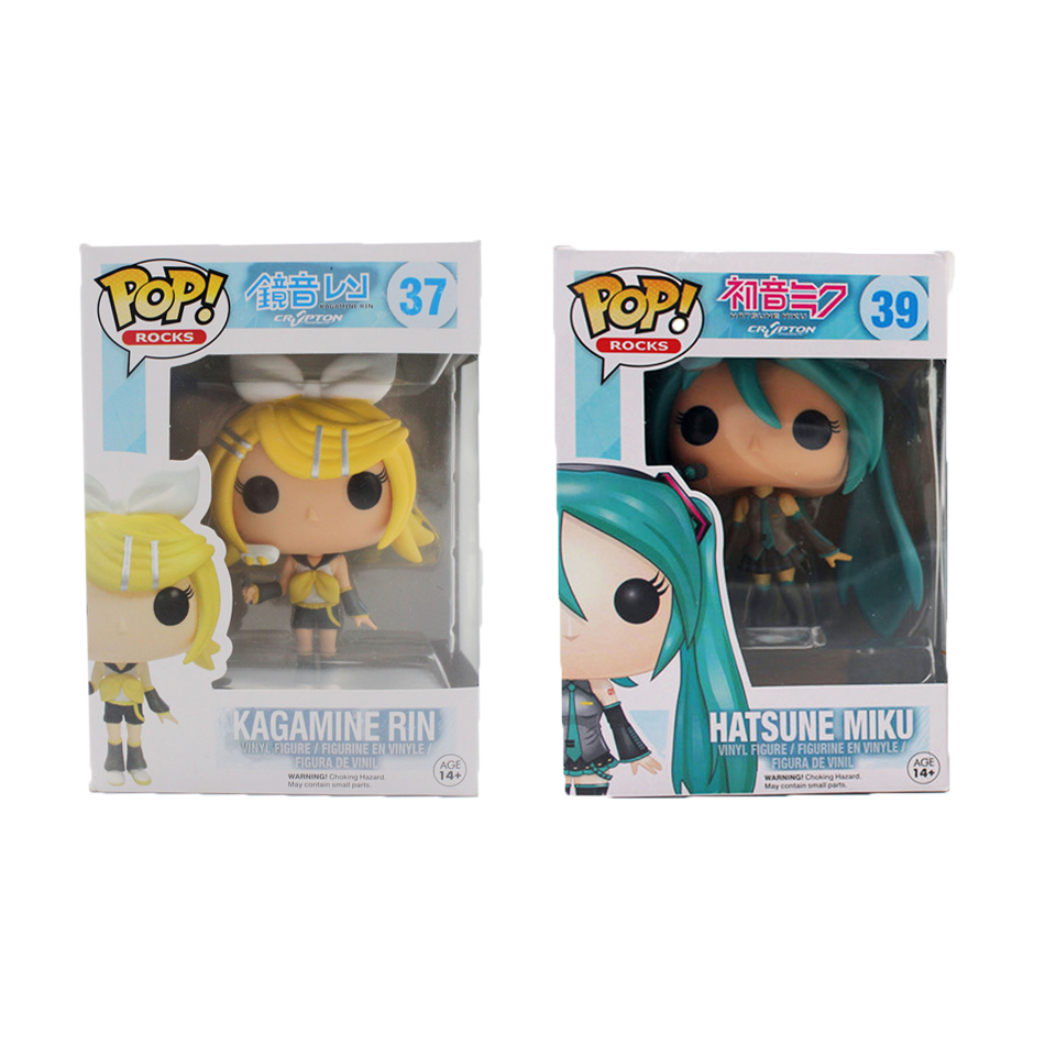 Funko Pop Hatsune Miku Kagamine Rin/Len VOCALOID Cosplay PVC Anime TV Hot Vinyl Cute Action Figure Collection Kid's Gifts Toys(China (Mainland))