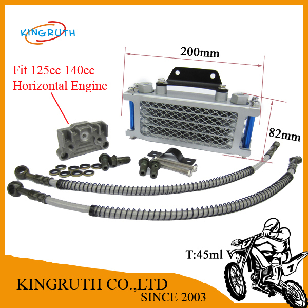 Motorcycle Use Oil Cooler Radiator Cooling Parts For Dirt Bike Pit bike Monkey Bike pocket bike ATV 125cc 140cc Free Shipping(China (Mainland))