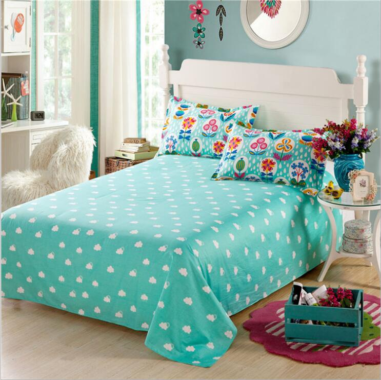 100%cotton flat sheet for adults,400TC 40s cotton twill full queen king printed flat bedsheet with good quality(China (Mainland))
