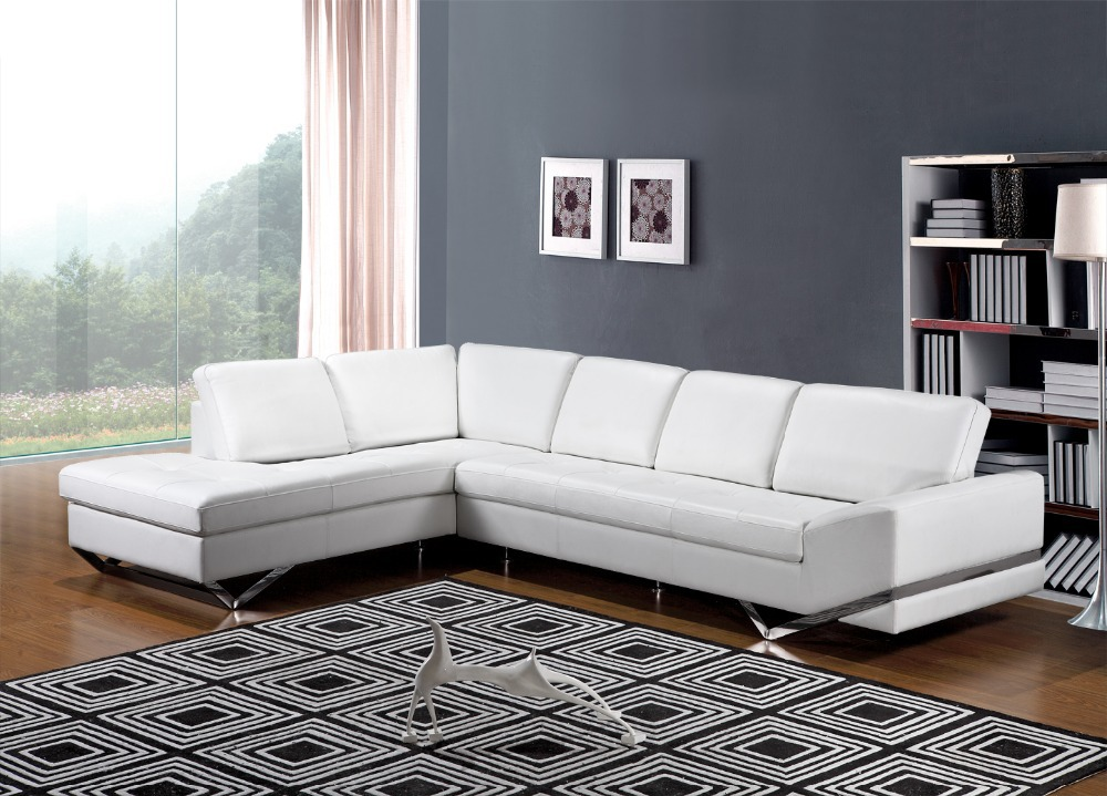 couch inflatable Picture More Detailed Picture about  : White leather corner sofa modern design leather sofa and couches for living room with stainless steel from www.aliexpress.com size 1000 x 719 jpeg 187kB
