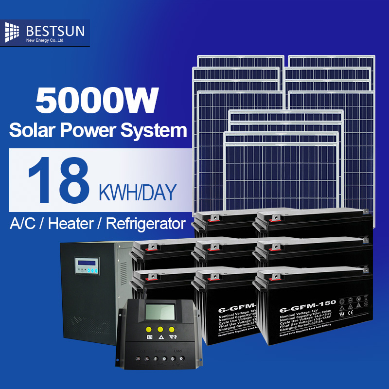 On/off Grid solar power system 5000W, Solar Ground mounting solar panel power system collector solar energy kits power supply(China (Mainland))