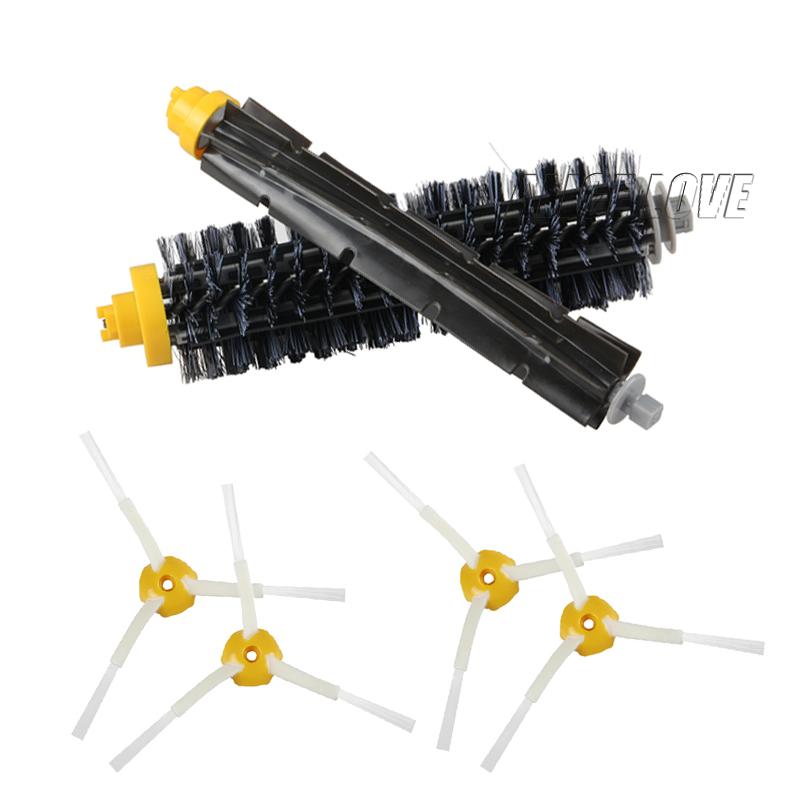 1 Bristle brush +1 Flexible Beater Brush +4 Side Brush for iRobot Roomba 600 700 Series Vacuum Cleaning Robots 760 770 780 790(China (Mainland))