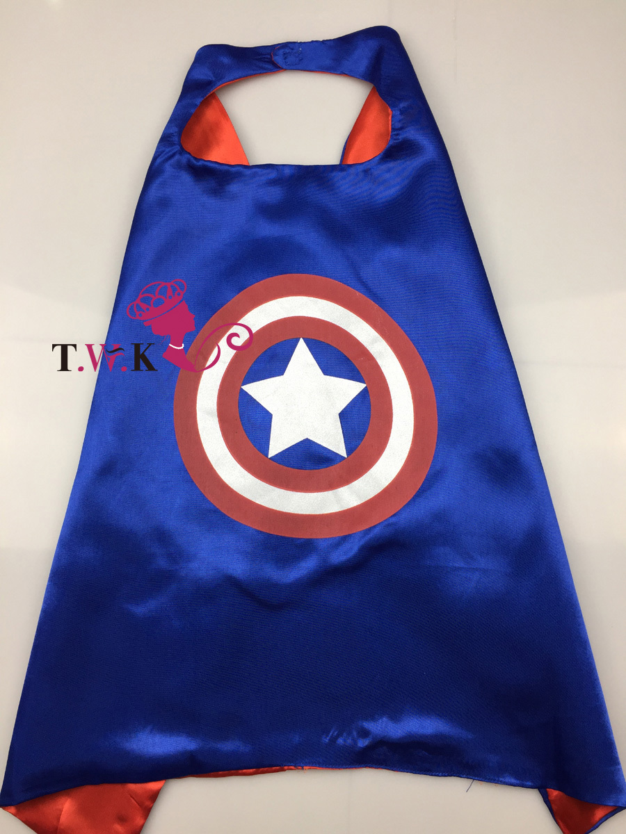 70 70 Sided Satin fabric Superhero cape Cape Mask superman batman spiderman super hero capes for