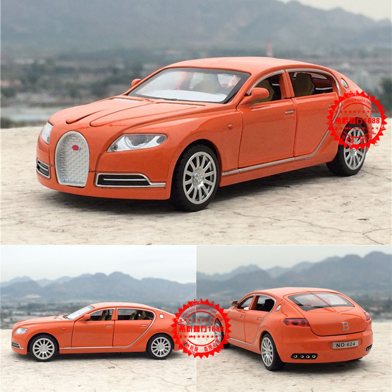 Free Shipping Collectible Alloy Diecast White Car Model 1/32 Bugatti Veyron 16C Galibier Pull Back Cars Model Kids Toys Gifts(China (Mainland))