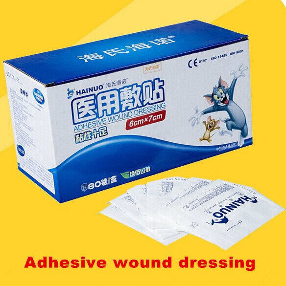 Free Shipping Waterproof Band Aid Large Aseptic Applique Wound Stickers Hemostatic Medical Bandage Home OfficeTravel Camping(China (Mainland))