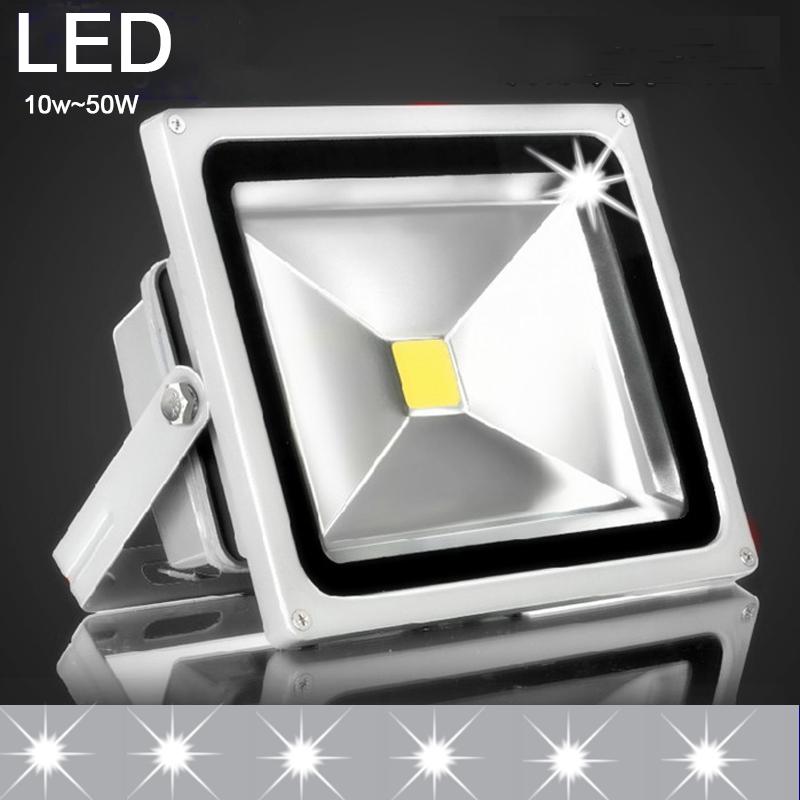 AC 85~265V ip65 LED reflector Flood light 10W 20W 30W 50W lamp luminaria projector LED Floodlight exterior spotlight outdoor rgb(China (Mainland))
