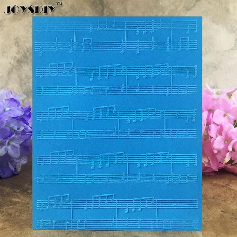 Musical Notation five-line Staff DIY Scrapbook Bump Plastic Embossing Folder For Album Card Tool Plastic Template Embossing