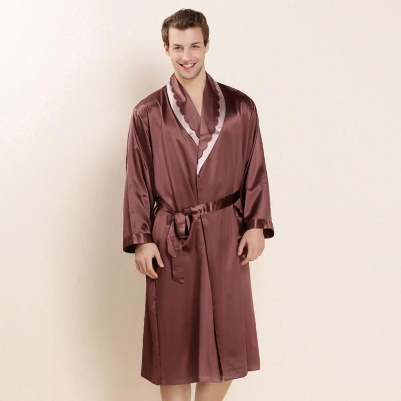 achetez en gros satin robe de chambre hommes en ligne des grossistes satin robe de chambre. Black Bedroom Furniture Sets. Home Design Ideas