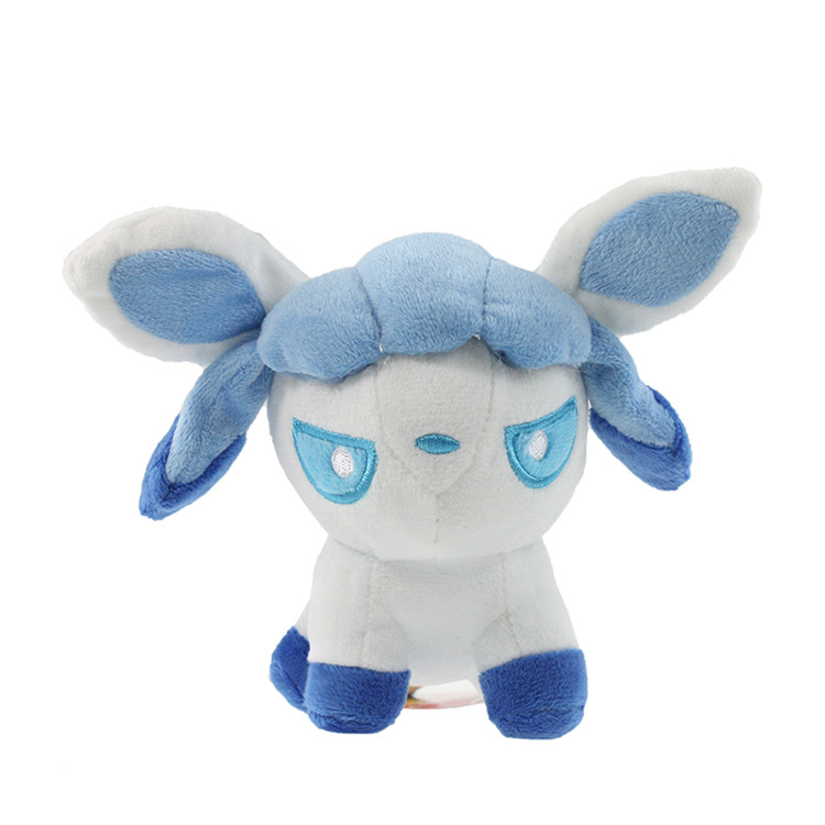 1pcs 12cm Pikachu Plush Toys High Quality Very Cute Pokemon Glaceon Eevee Plush dolls For Children's Gift(China (Mainland))