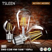 Buy +Flash Sale+ 10Pcs e27 4/8/12/16w retro filament led bulb candle drop light novel edison spot lamp AC 110V/220V # for $16.11 in AliExpress store