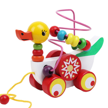 Duckling Trailer Mini Around Beads Educational Game Toys For Kids Children FCI#(China (Mainland))