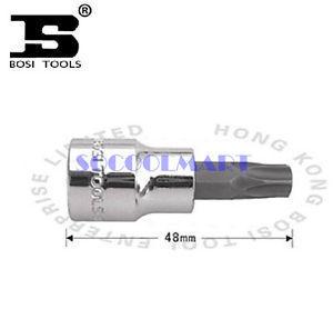 PRETTY 2Pcs 48mm Long 3/8-inch Drive T20 Steel Torx Screwdriver Bit Socket*