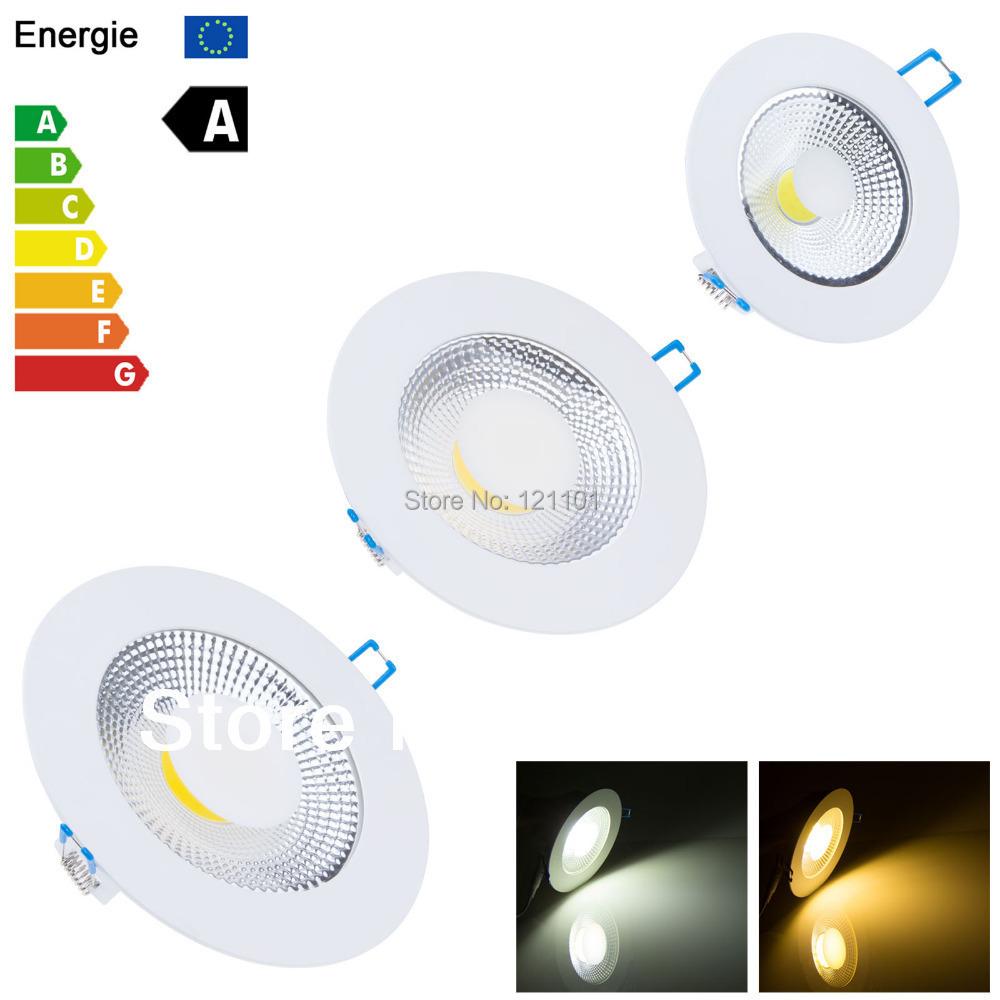 New COB 5W 10w 15W LED COB Ceiling Light Cool White/Warm White LED Fixture Down Light 85-265V Free Shipping(China (Mainland))