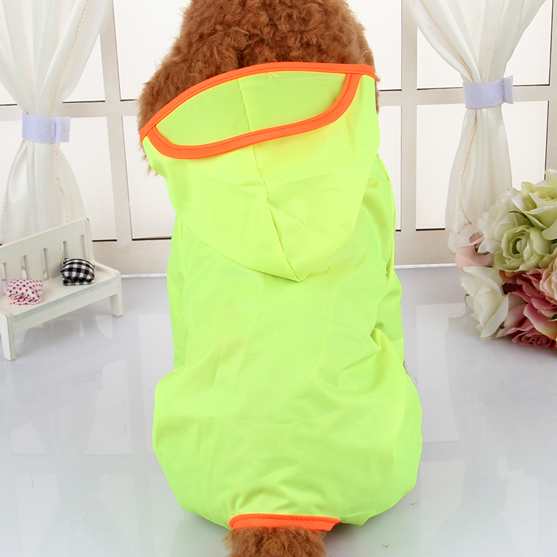Waterproof Poncho Raincoat Dog Clothes Teddy Bichon Legs Raincoat Pet Dog Clothes Spring And Summer Clothes(China (Mainland))