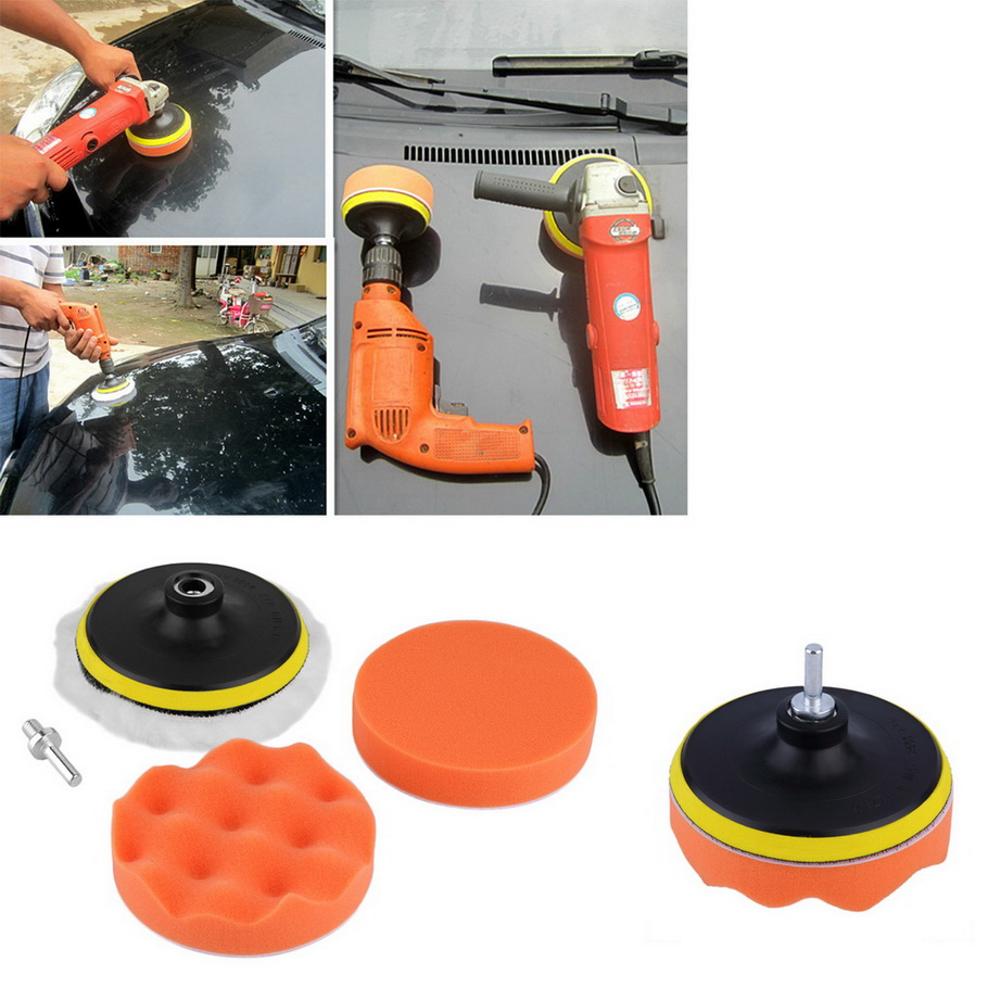 New 5 inch Buffing Pad Auto Car Polishing sponge Wheel Kit With M10 Drill Adapter Buffer hot selling