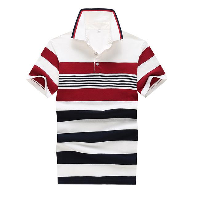 2016 хлопок мужские рубашки поло в полоску рубашки поло мужчины мода высокое качество ...