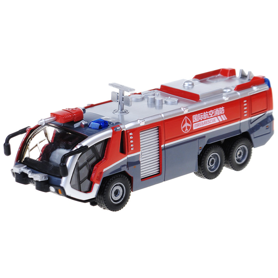 2015 2014 Hot Sale Alloy Engineering Car Model High Pressure Water Gun Fire Truck Mold 1:50 High Imitation Truck Toy Free Shippi(China (Mainland))