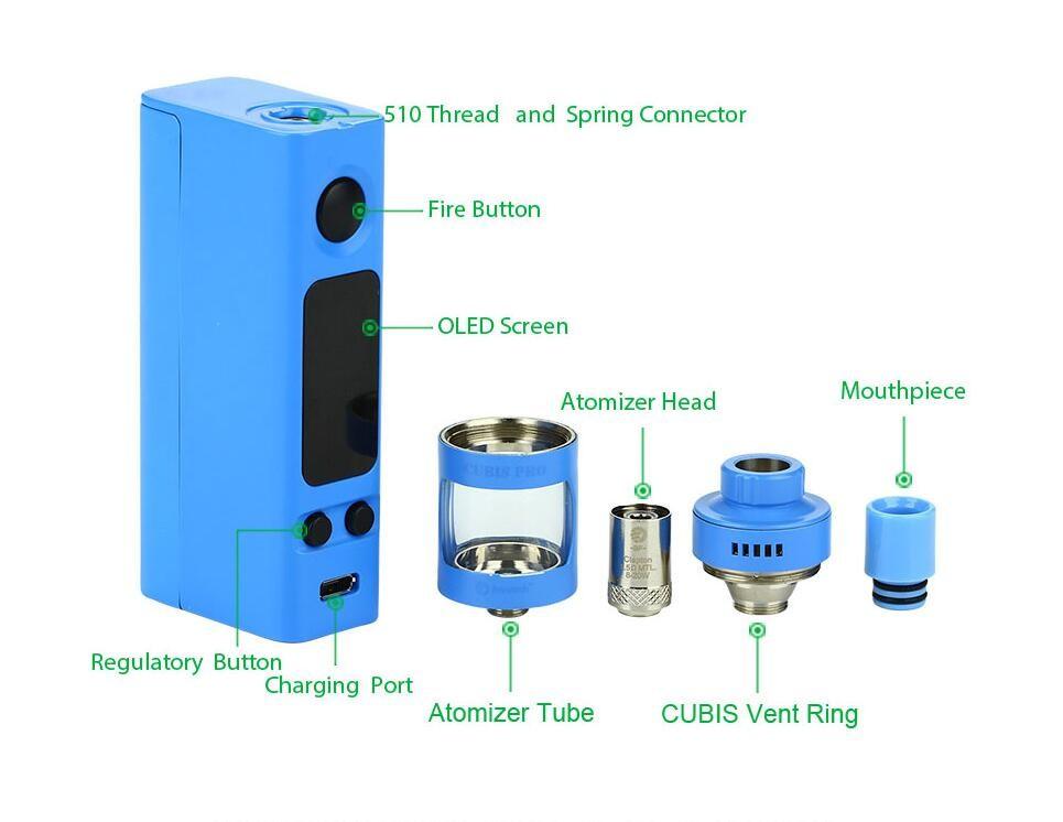 Оригинальный joyetech эвик мини с данные Кубис про комплект 75 Вт коробка мод контроль температуры в elektronik Sigara обновленный Эвик vtc мини-набор vape