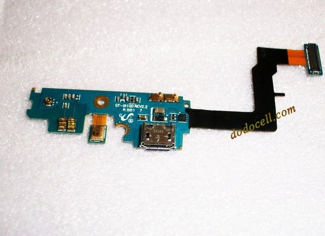 Hot sale! Free shipping For Samsung Galaxy S2 i9100 charger connector flex cable with microphone.