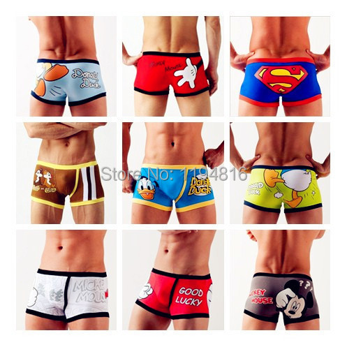 Best Price Free shipping High Quality Cotton Men's Cartoon Boxer / Men Underwear Popular Underpants Lovely&Sexy(China (Mainland))