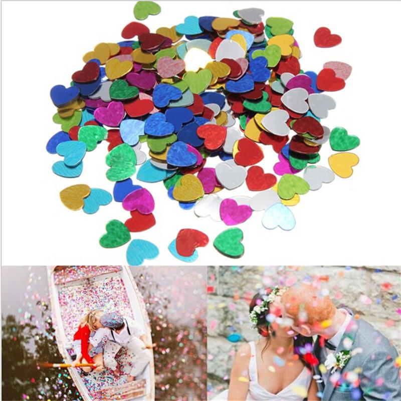 200Pcs Multicolor romantic Hen wedding party Sparkle Love Heart confetti table decoration Birthday bachelorette Party Decoration(China (Mainland))