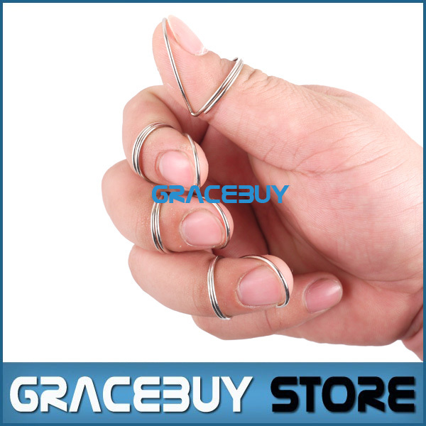 Guitar Picks Butterfly Finger Silver Metal Classical Fingerstyle Picking Personalised Guitarra Plectrum free shipping<br><br>Aliexpress