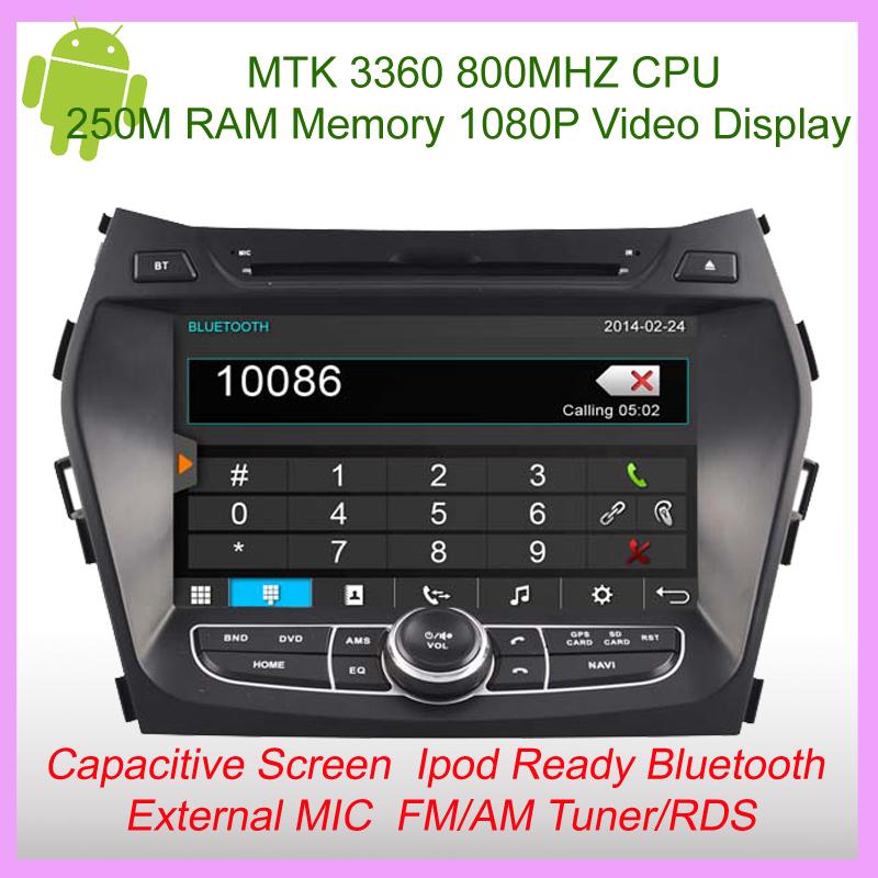 Car Gps FOR Hyundai IX45 Santa Fe GPS Navigation BlueTooth RDS USB DSP 1080P FM/AM Dual-core steering wheel control Canbus(China (Mainland))