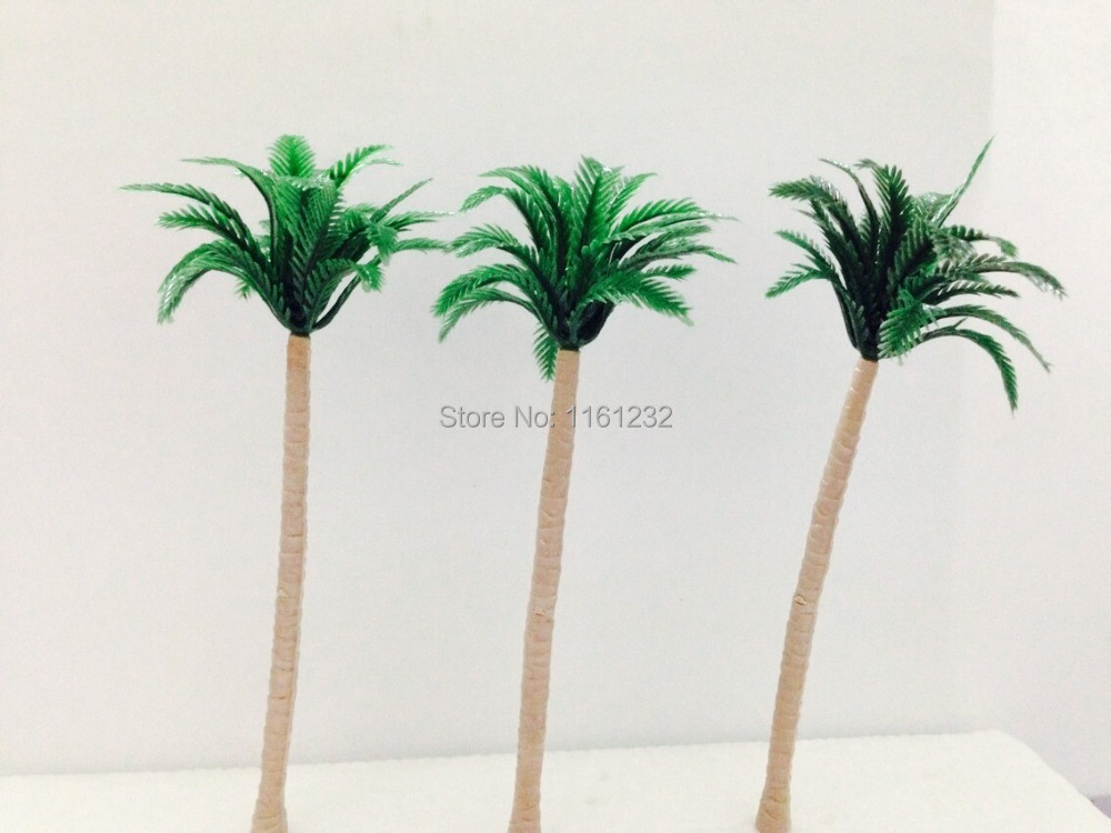 All Kinds Architecture Plastic Palm Tree Model Miniature Plastic Palm Tree for sea scenery<br><br>Aliexpress