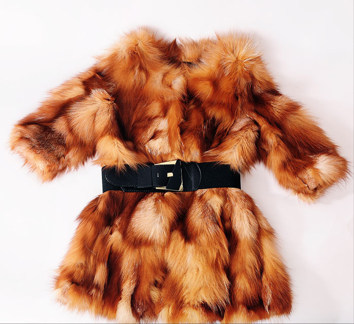 Free Shipping new Genuine real natural Fox Fur Coat Women Luxury Crystal fashiion Fur font b
