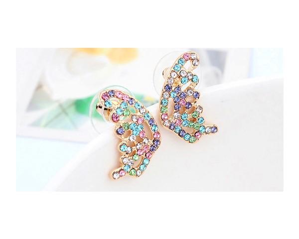 Colorful Crystal Butterfly Jewelry Stud Earrings Made With Genuine Swarovski Elements Earrings Jewellery Small Earrings EEH0017