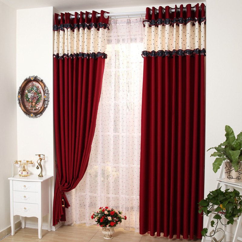wohnzimmer palme schneiden:Red and Black Bedroom Curtains