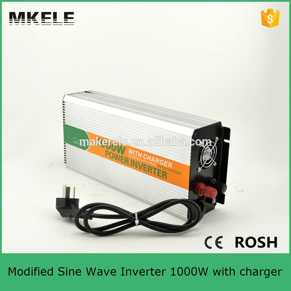Фотография MKM1000-121G-C professional off-grid 1000w inverter online,dc 12v to ac 110v low power inverter for house with charger