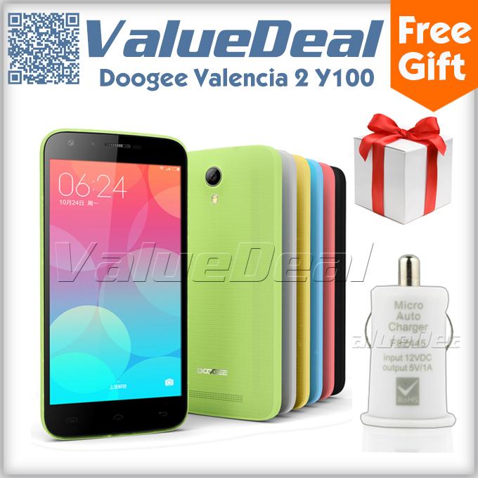 Мобильный телефон 2015 Doogee 2 Y100 5.0 Android 4.4 1 8 MTK6592 1,7 13.0mp 3 g GPS doogee dg900 100