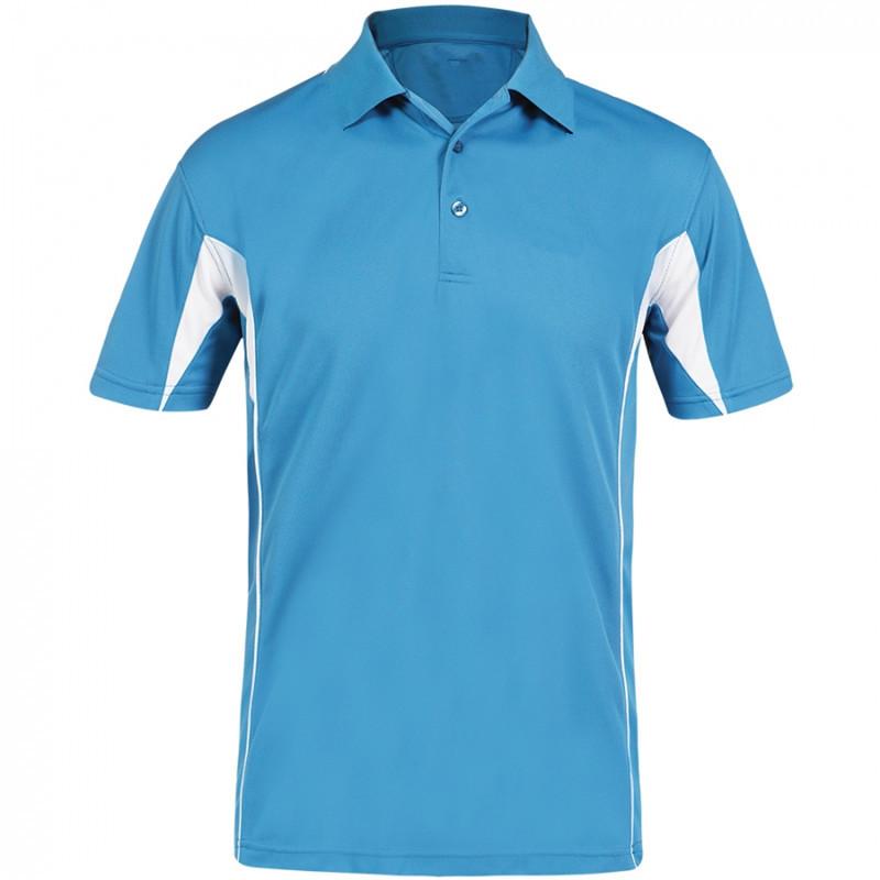 Short Sleeve Heathered Performance Polo Polyester Interlock Polo Shirt(China (Mainland))