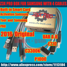 2016 New 100% Original  Z3X PRO Box Z3X BOX  activated  Sam  Tool and  PRO with 4 Cables for c3300k/P1000/USB/E210 update S5,S6(China (Mainland))