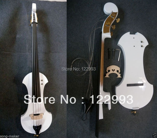 1 pcs 3/4 Electric Parted Upright Double Bass Finish silent Solid wood