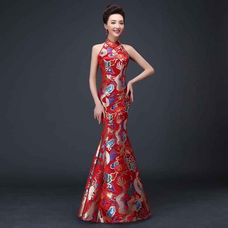2015 new wedding bride wedding dress evening dress fishtail skirt suit a slim red long summerОдежда и ак�е��уары<br><br><br>Aliexpress