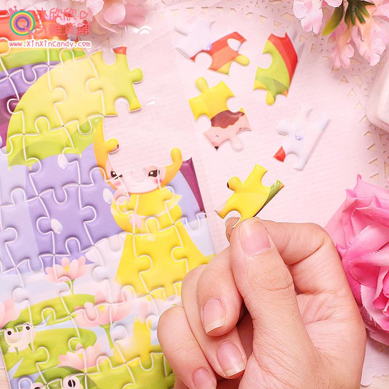 Showtime Korea cartoon creative home DIY sponge jigsaw puzzle children diary decorative stickers albums