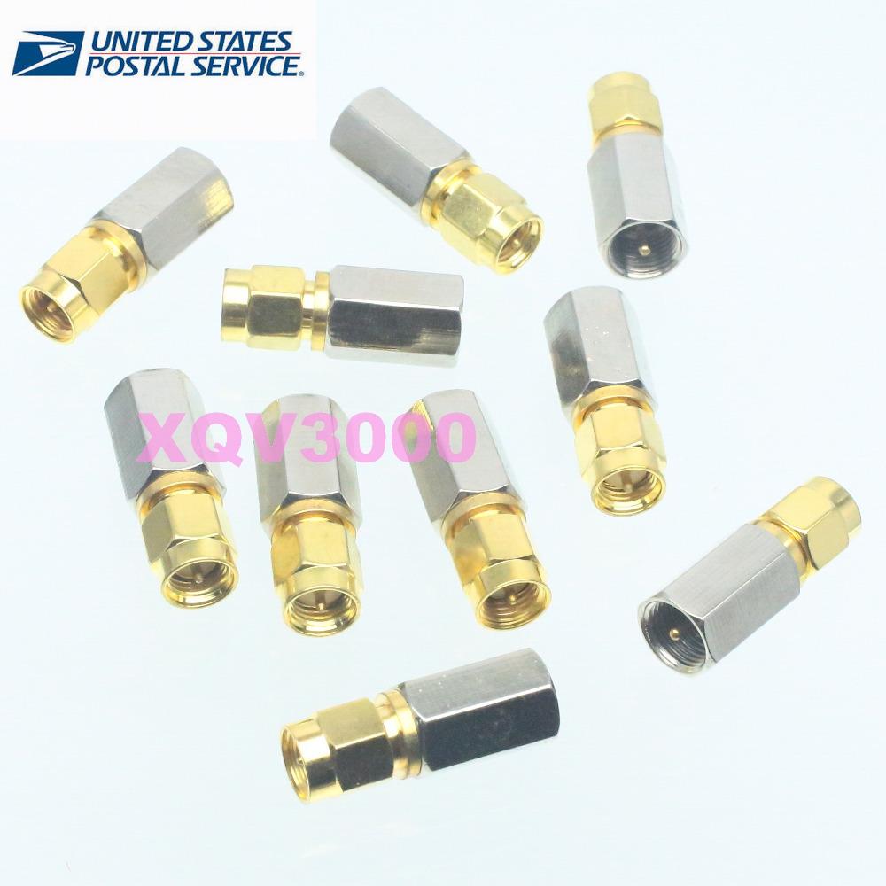 10pcs FME male plug to SMA male plug RF coaxial adapter connector(China (Mainland))