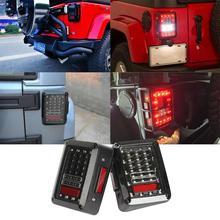 2pcs/Lot Led Taillight Brake Light Reverse Light Signal Light Assembly Integrated Smoke SAE & D.O.T approved For Jeep Wrangler(China (Mainland))