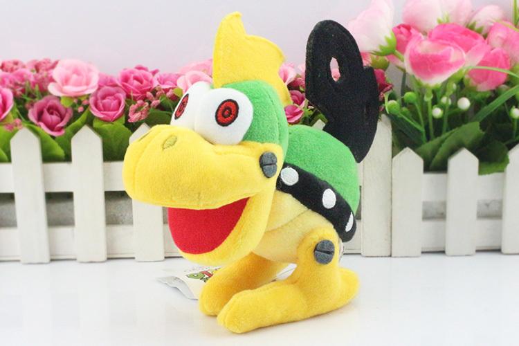 EMS 100Pcs/lot  Free Shipping  New Super Mario Bros Plush Doll Stuffed Toy Mecha Windup Koopa Mechakoopas 7*17cm <br><br>Aliexpress
