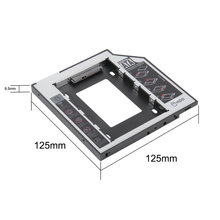 9.5mm Universal SATA 2nd HDD SSD Hard Drive Caddy for CD/DVD-ROM Optical Bay Dropshipping