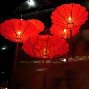 Classical chinese style vintage lanterns lighting fitting living room lights restaurant lamp study light flying saucer pendant(China (Mainland))
