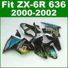 Play Station 3 Fairing kit For Kawasaki Ninja ZX6R fairings 2000 2001 2002 year model 00 01 02 zx 636 bodywork kit B14A