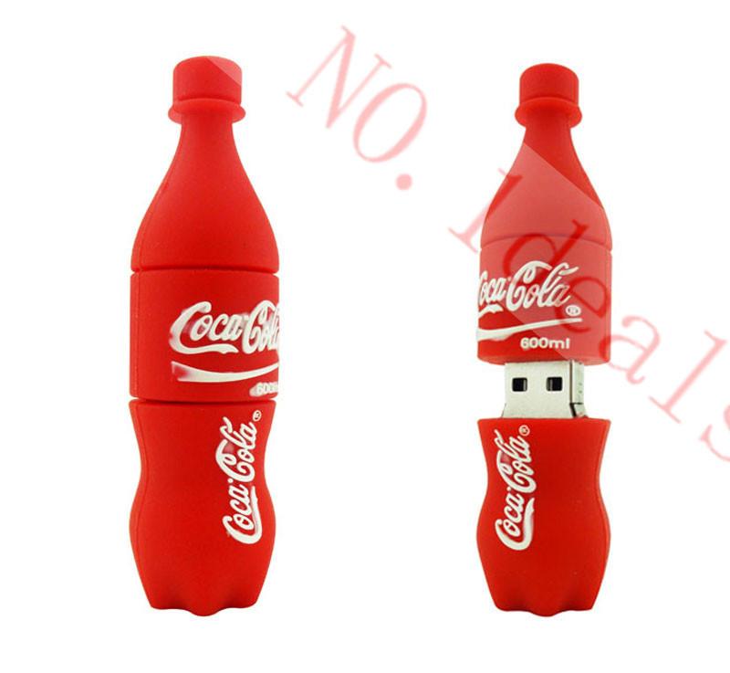 usb flash drive 64gb pen drive 32gb pendrive 16gb 8gb 4gb cartoon new style red cola Hot Sale Usb 2.0 usb stick(China (Mainland))