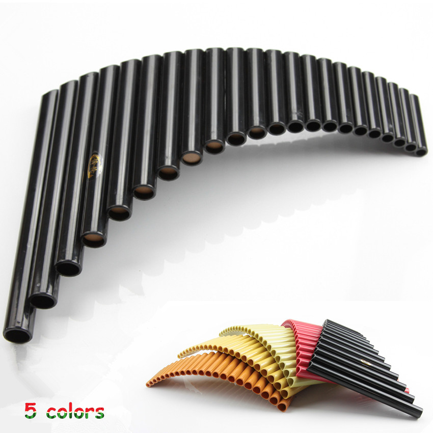 High Quality PanFlute 22 Pipes ABS Material Wind Flute Panpipe Right / Left Hand Handmade Folk Musical Instrument Pipe Dizi(China (Mainland))