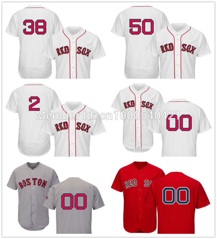 Custom Boston Red Sox 2 Xander Bogaerts 38 Rusney Castillo 50 Mookie Betts White Flexbase Authentic Collection Player Jerseys(China (Mainland))