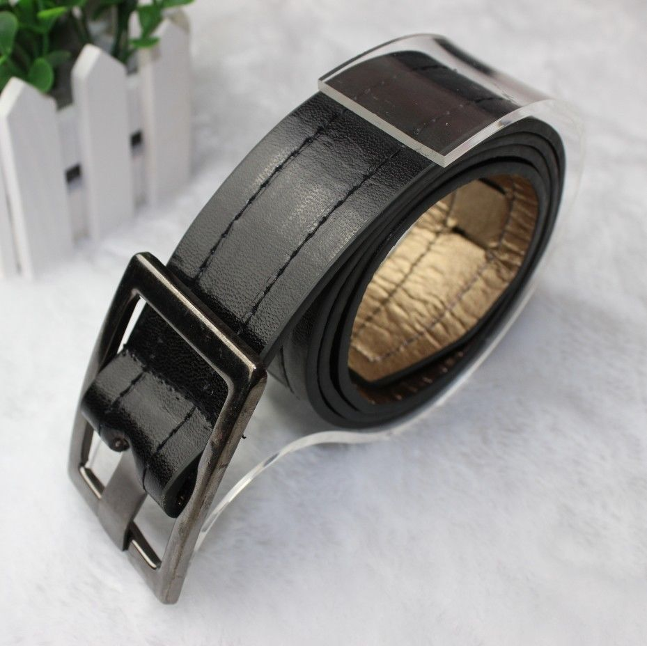 Men Belt Fashion PU Leather Black White Camel Length 103cm Waist Belt for Men Women Brand