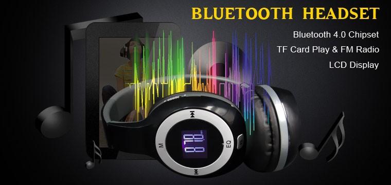 PC Bluetooth headset LCD